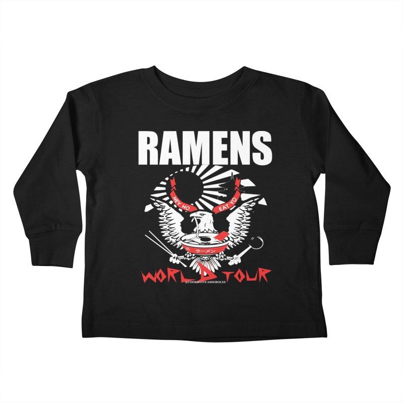 RAMENS WORLD TOUR (white) Kids Toddler Longsleeve T-Shirt by RAMENS Shirts by Cooks and Casseroles