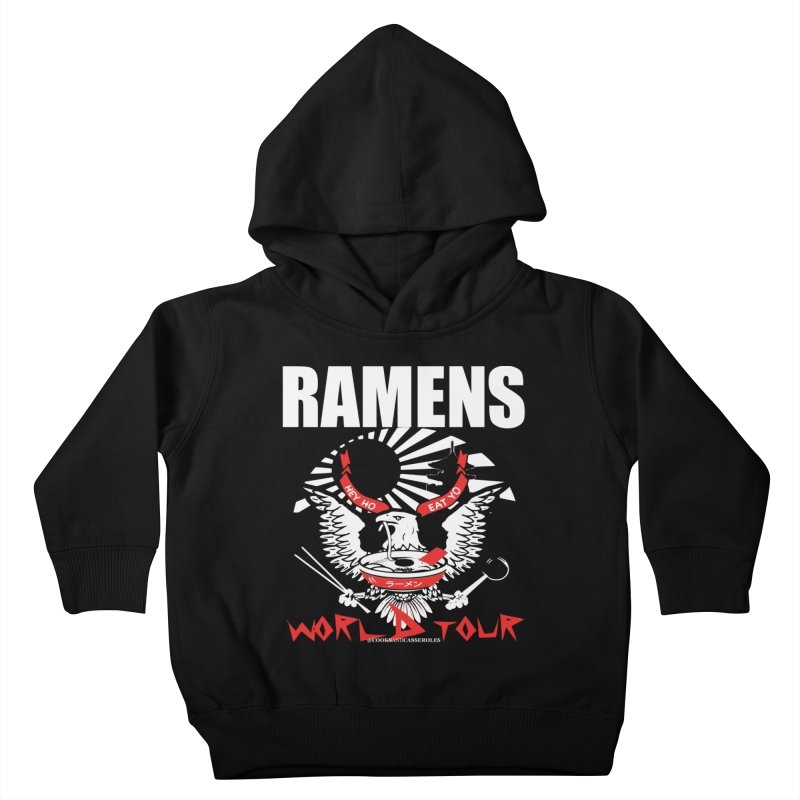 RAMENS WORLD TOUR (white) Kids Toddler Pullover Hoody by RAMENS Shirts by Cooks and Casseroles