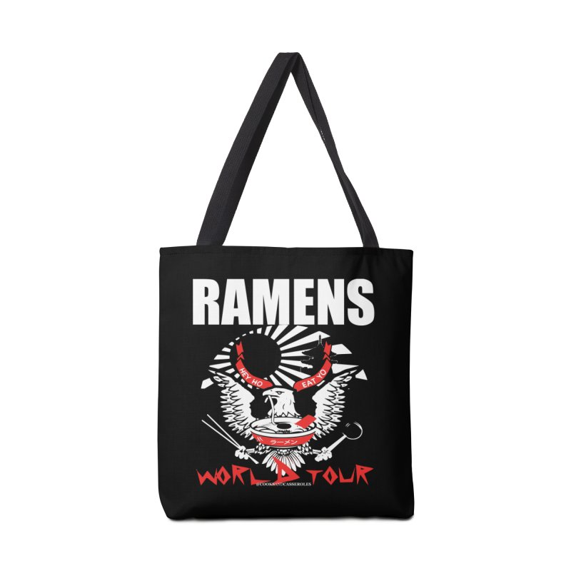RAMENS WORLD TOUR (white) Accessories Tote Bag Bag by RAMENS Shirts by Cooks and Casseroles