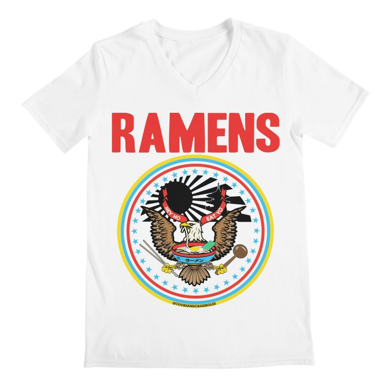 RAMENS LIMITED EDITION Men's Regular V-Neck by RAMENS Shirts by Cooks and Casseroles