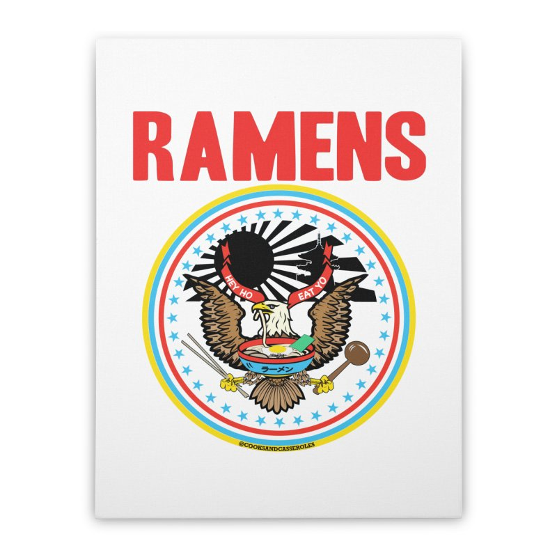RAMENS LIMITED EDITION Home Stretched Canvas by RAMENS Shirts by Cooks and Casseroles