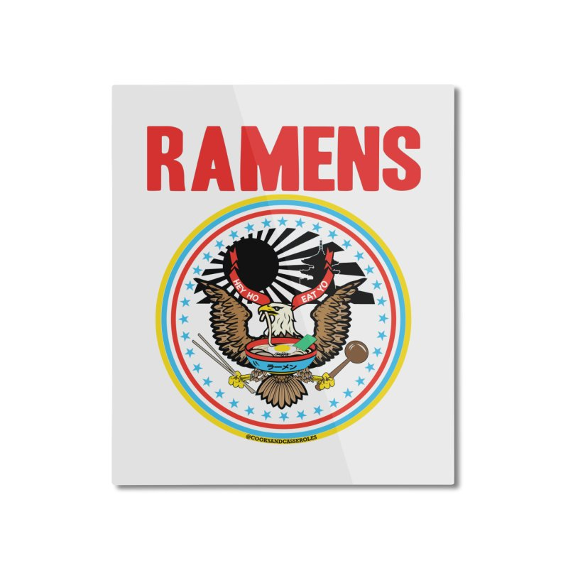RAMENS LIMITED EDITION Home Mounted Aluminum Print by RAMENS Shirts by Cooks and Casseroles