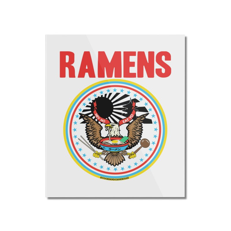 RAMENS LIMITED EDITION Home Mounted Acrylic Print by RAMENS Shirts by Cooks and Casseroles