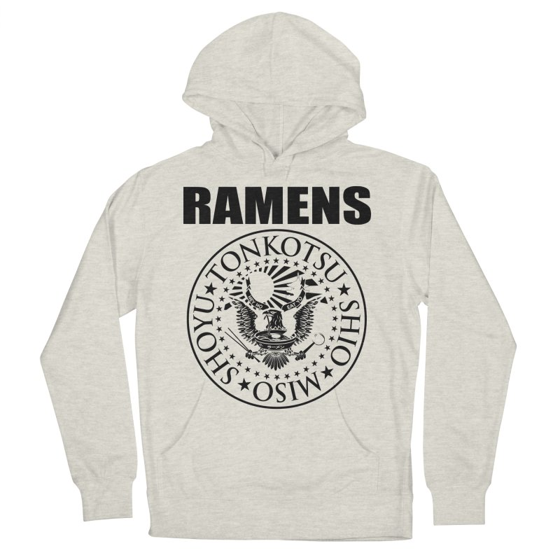 RAMENS  Men's French Terry Pullover Hoody by Cooks and Casseroles