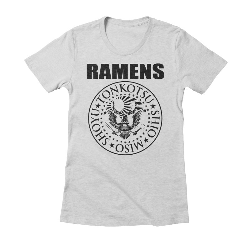 RAMENS  Women's Fitted T-Shirt by Cooks and Casseroles