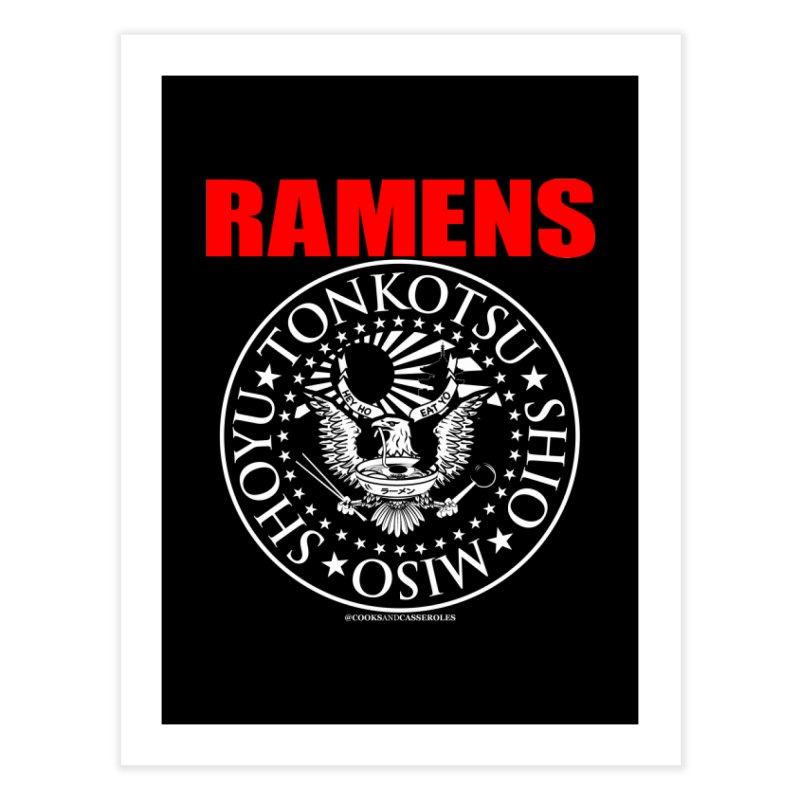 RAMENS RED Home Fine Art Print by RAMENS Shirts by Cooks and Casseroles