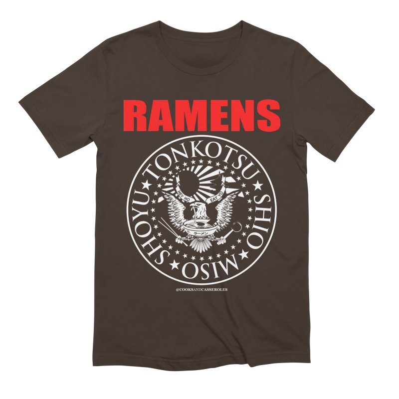 RAMENS RED Men's Extra Soft T-Shirt by Cooks and Casseroles
