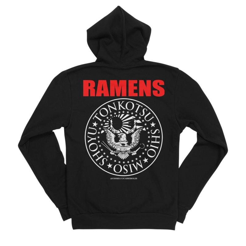 RAMENS RED Men's Sponge Fleece Zip-Up Hoody by Cooks and Casseroles