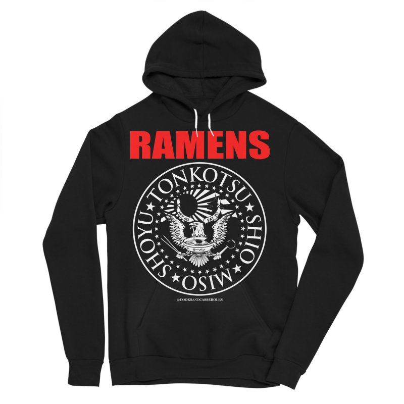 RAMENS RED Men's Sponge Fleece Pullover Hoody by Cooks and Casseroles