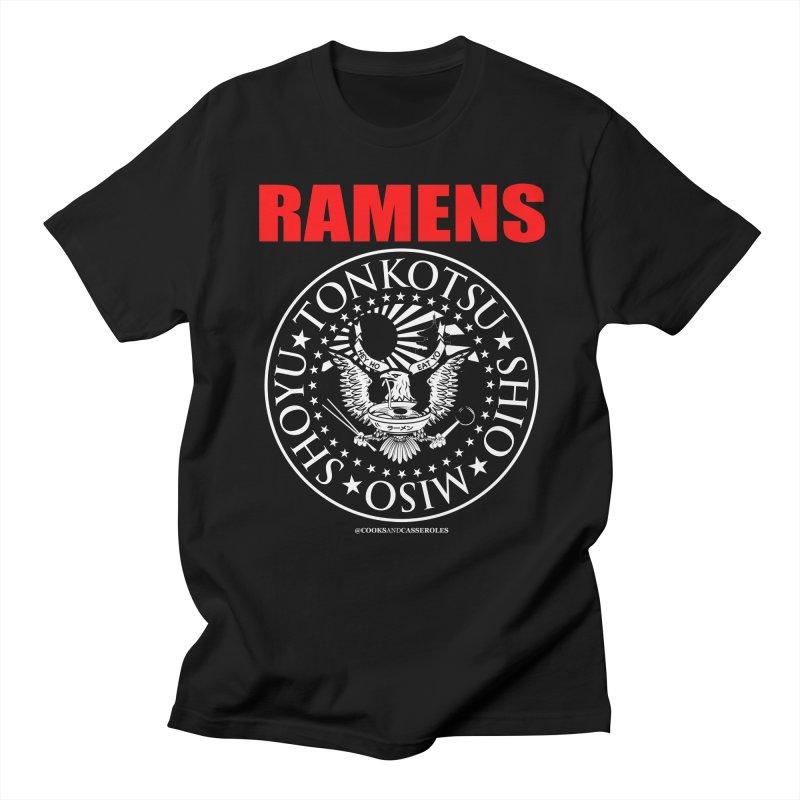 RAMENS RED Men's Regular T-Shirt by Cooks and Casseroles