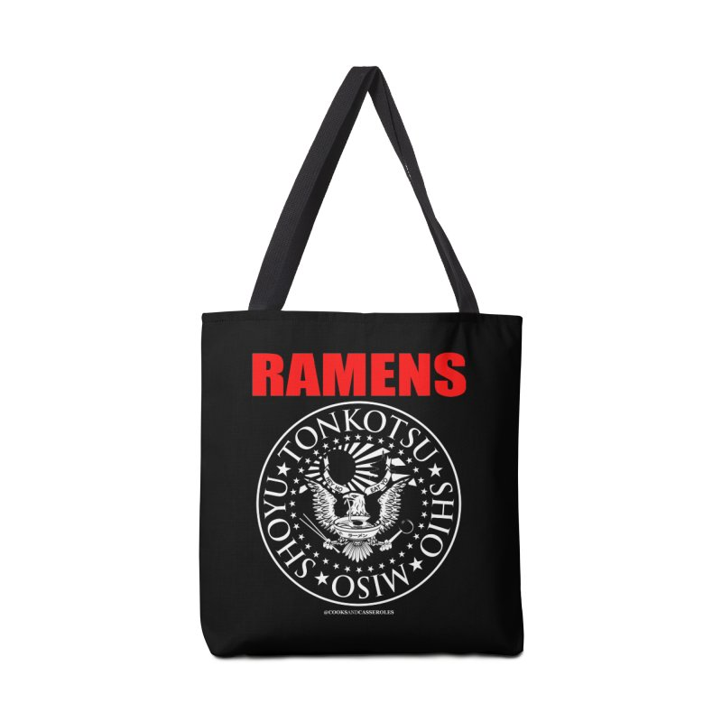 RAMENS RED Accessories Tote Bag Bag by RAMENS Shirts by Cooks and Casseroles
