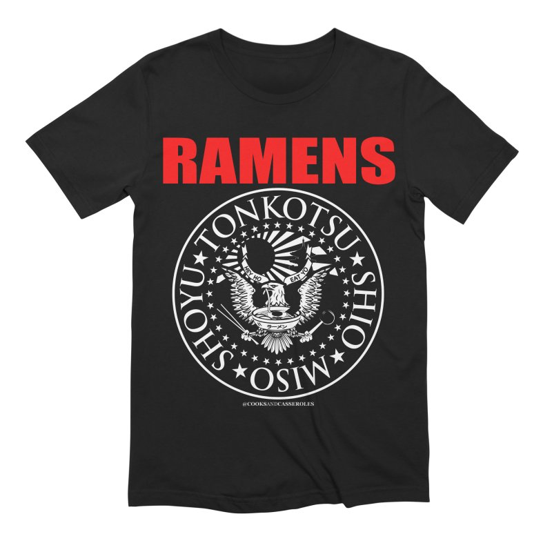 RAMENS RED Men's Extra Soft T-Shirt by RAMENS Shirts by Cooks and Casseroles