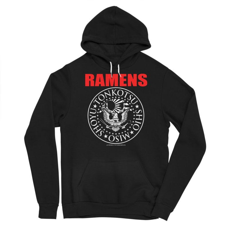 RAMENS RED Men's Sponge Fleece Pullover Hoody by RAMENS Shirts by Cooks and Casseroles