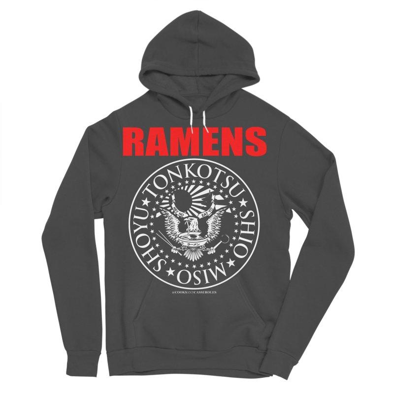 RAMENS RED Men's Sponge Fleece Pullover Hoody by Cooks and Casseroles