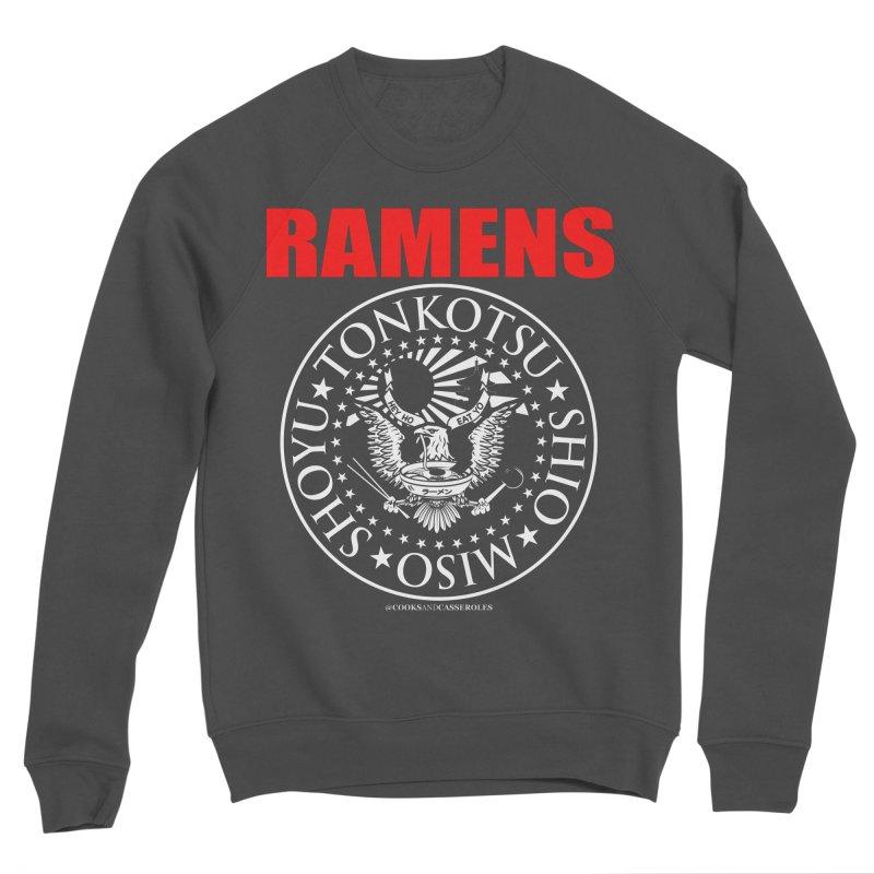 RAMENS RED Men's Sponge Fleece Sweatshirt by RAMENS Shirts by Cooks and Casseroles