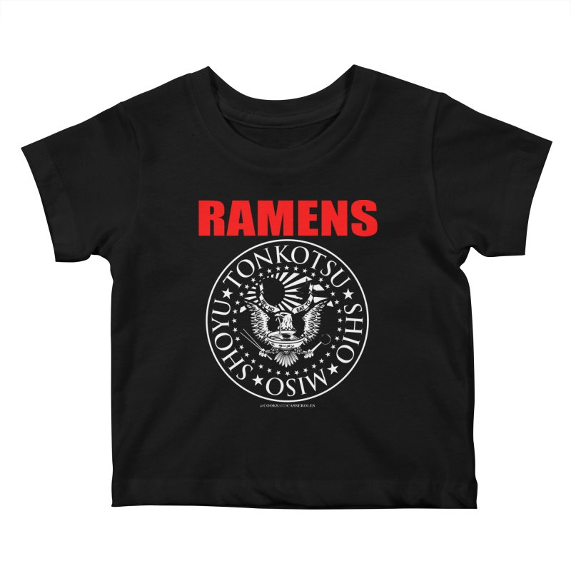 RAMENS RED Kids Baby T-Shirt by RAMENS Shirts by Cooks and Casseroles
