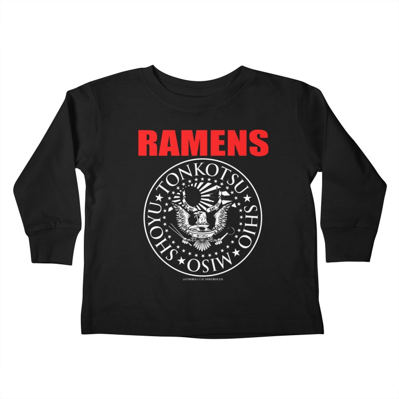 RAMENS RED Kids Toddler Longsleeve T-Shirt by RAMENS Shirts by Cooks and Casseroles