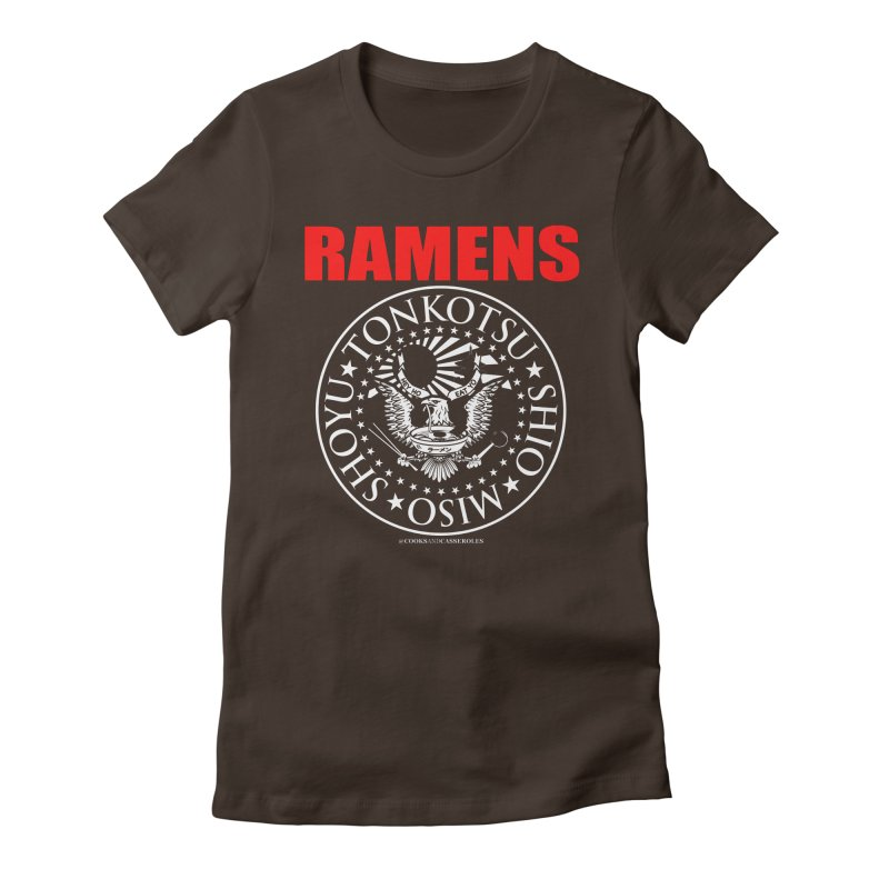 RAMENS RED Women's Fitted T-Shirt by Cooks and Casseroles
