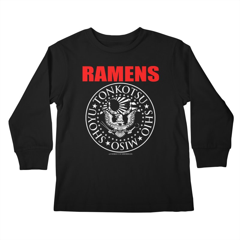 RAMENS RED Kids Longsleeve T-Shirt by RAMENS Shirts by Cooks and Casseroles