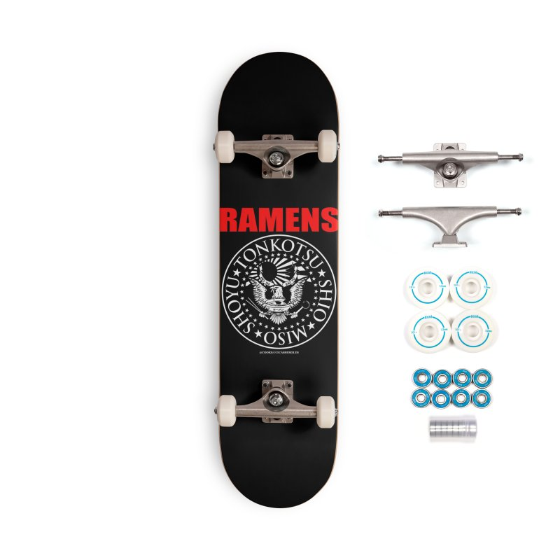 RAMENS RED Accessories Skateboard by RAMENS Shirts by Cooks and Casseroles