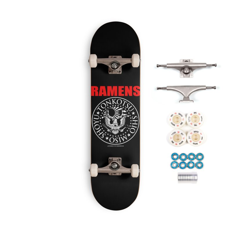 RAMENS RED Accessories Skateboard by Cooks and Casseroles