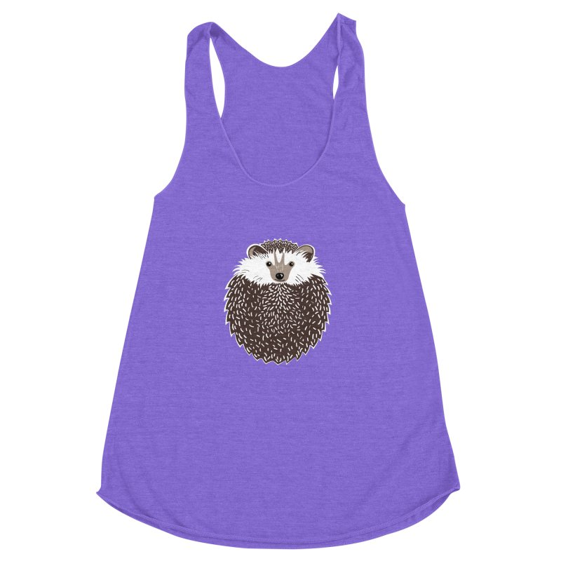 Huffy Hedgehog Women's Racerback Triblend Tank by Cool Stuff I Want to Buy