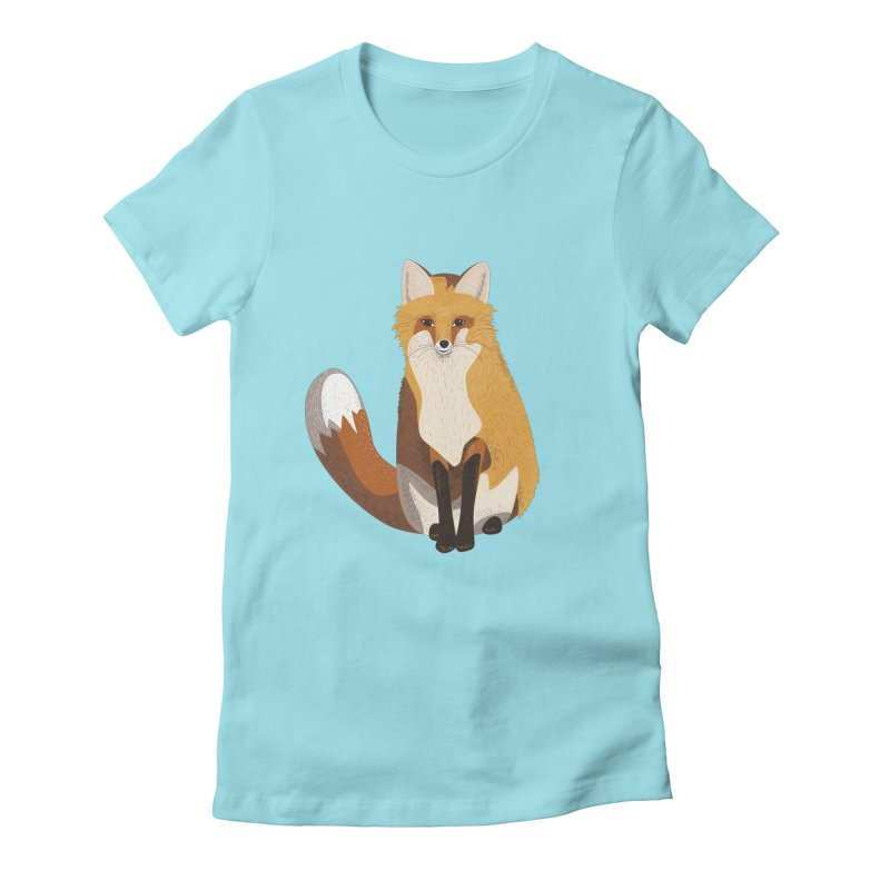 Frisky Fox Women's Fitted T-Shirt by Cool Stuff I Want to Buy