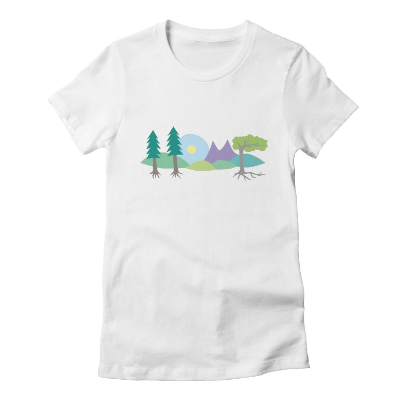 At Home In Nature Women's Fitted T-Shirt by Cool Stuff I Want to Buy
