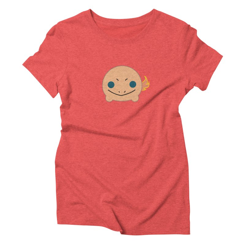 Poketsum Series - Charmander in Women's Triblend T-shirt Chili Red by Cool As A Cucumber