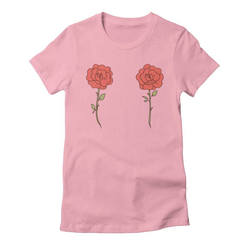 Rose Pals Women's Fitted T-Shirt by Cool Boy