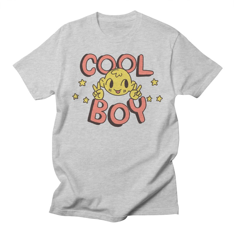 Cool Boy Star Party in Women's Regular Unisex T-Shirt Heather Grey by Cool Boy