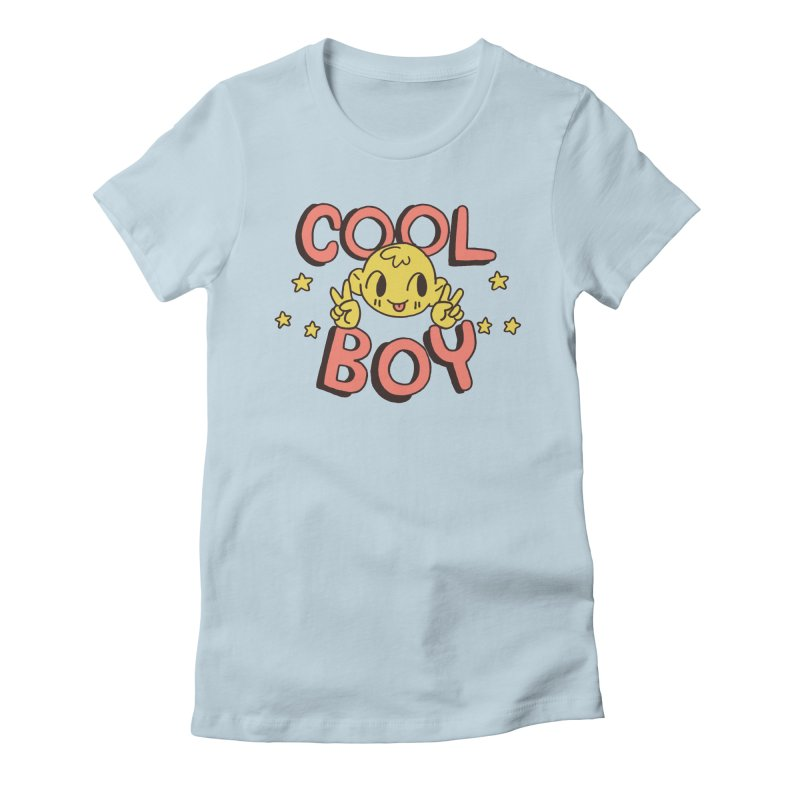 Cool Boy Star Party Women's Fitted T-Shirt by Cool Boy