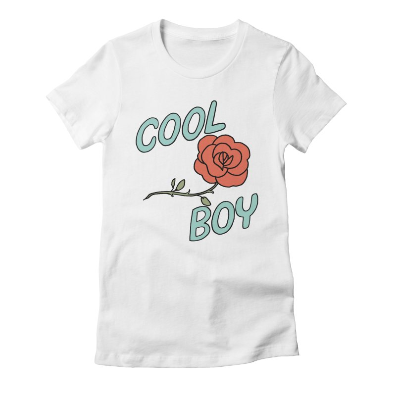 Cool Boy Rose Women's Fitted T-Shirt by Cool Boy