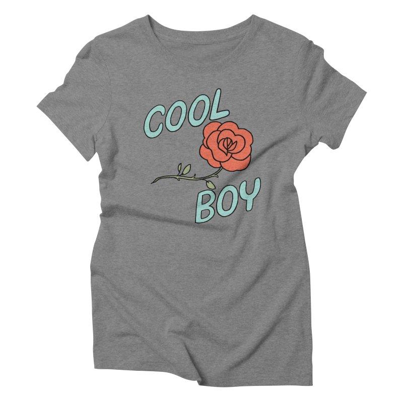 Cool Boy Rose Women's Triblend T-Shirt by Cool Boy