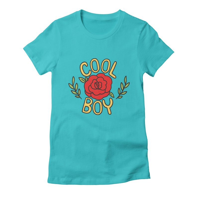 Coolest Boy in Town Women's Fitted T-Shirt by Cool Boy