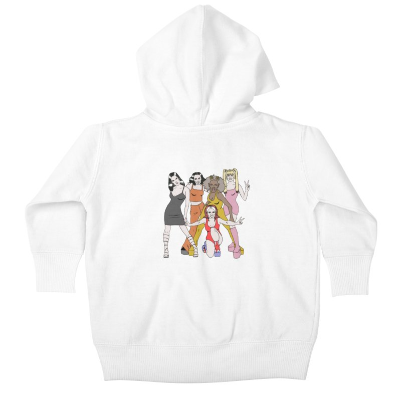 Spice Girls Kids Baby Zip-Up Hoody by coolsaysnev's Shop