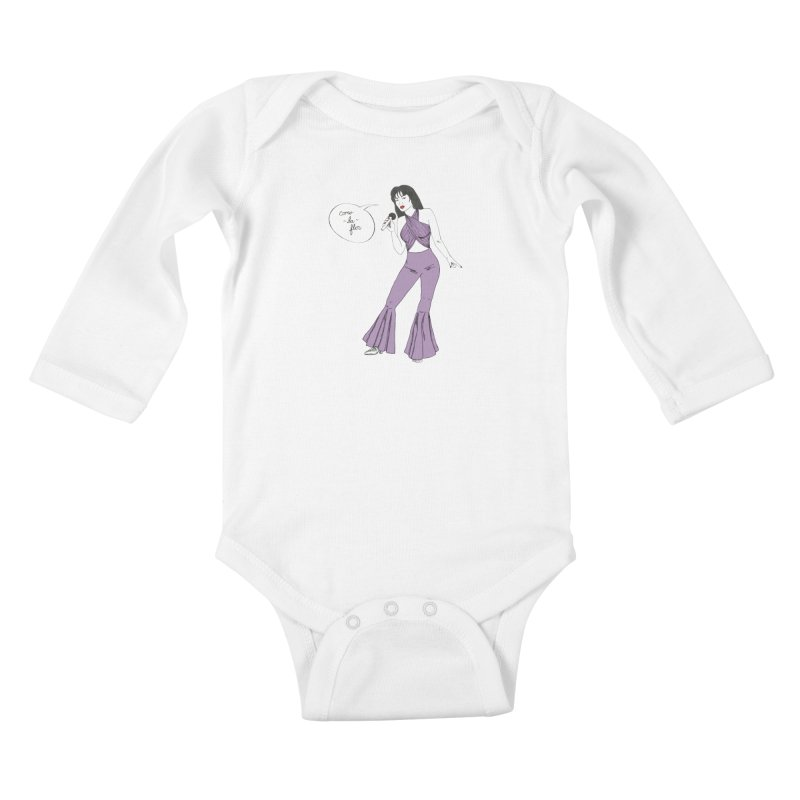 Selena Kids Baby Longsleeve Bodysuit by coolsaysnev's Shop