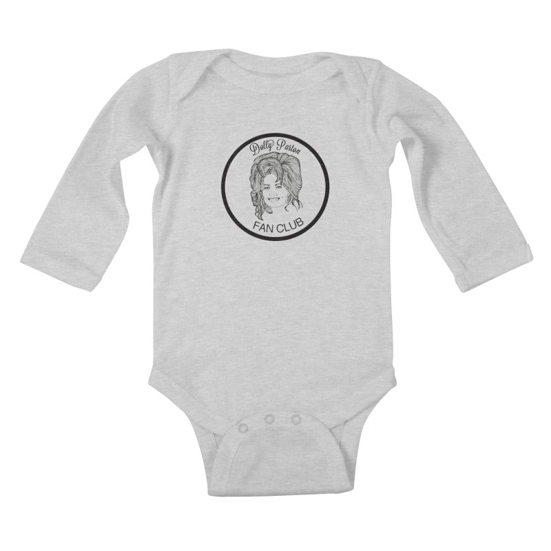 Dolly Parton Fan Club Kids Baby Longsleeve Bodysuit by coolsaysnev's Shop