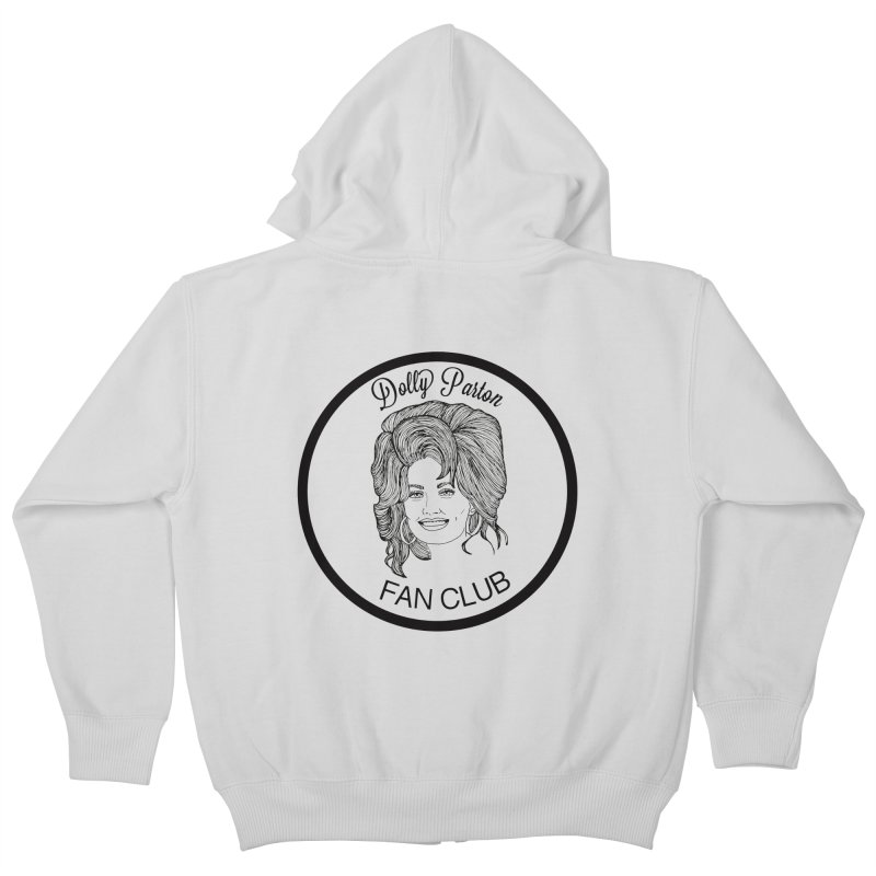 Dolly Parton Fan Club Kids Zip-Up Hoody by coolsaysnev's Shop