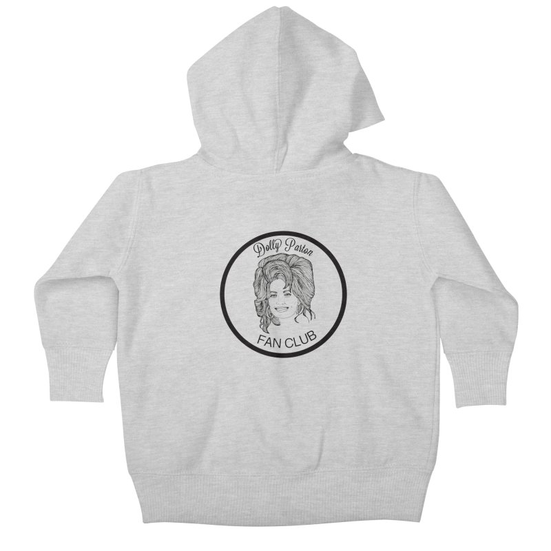 Dolly Parton Fan Club Kids Baby Zip-Up Hoody by coolsaysnev's Shop