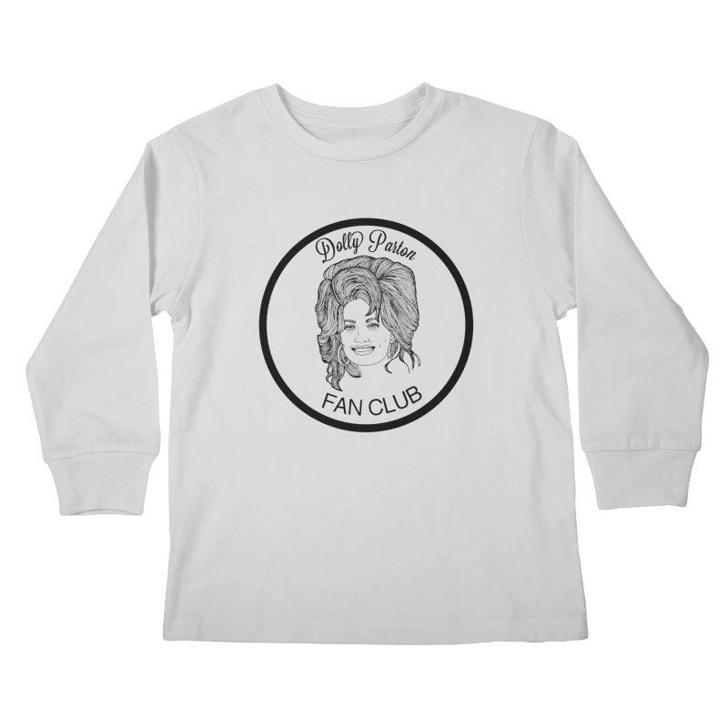 Dolly Parton Fan Club Kids Longsleeve T-Shirt by coolsaysnev's Shop