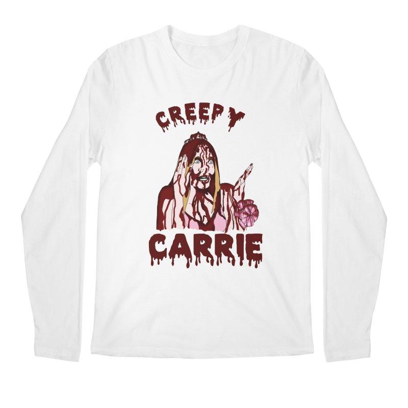 Creepy Carrie Men's Regular Longsleeve T-Shirt by coolsaysnev's Shop