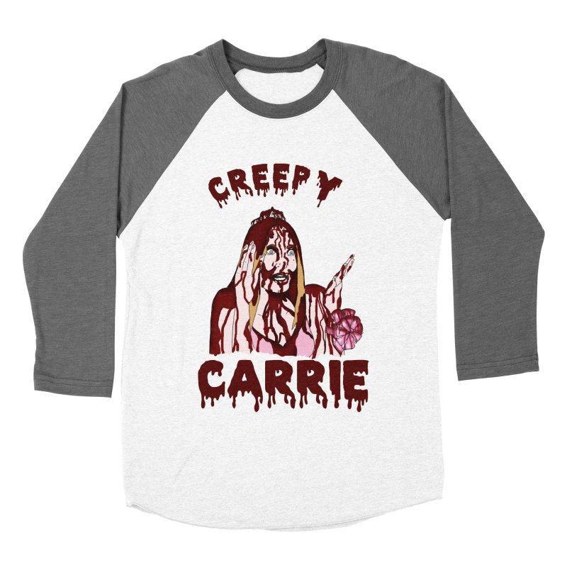 Creepy Carrie Women's Baseball Triblend Longsleeve T-Shirt by coolsaysnev's Shop