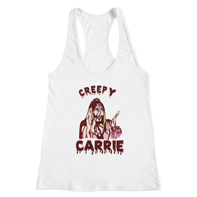 Creepy Carrie Women's Racerback Tank by coolsaysnev's Shop