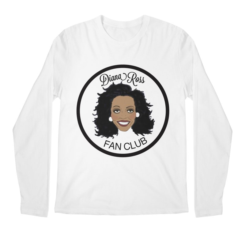 Diana Ross Fan Club Member Men's Regular Longsleeve T-Shirt by coolsaysnev's Shop