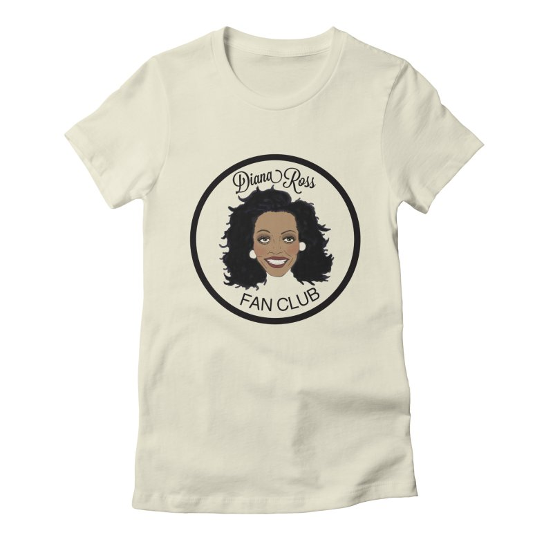Diana Ross Fan Club Member Women's Fitted T-Shirt by coolsaysnev's Shop