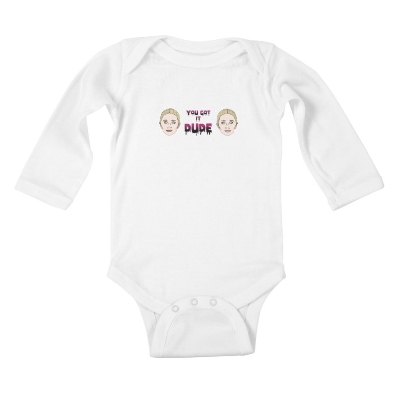 Olsen twins Kids Baby Longsleeve Bodysuit by coolsaysnev's Shop