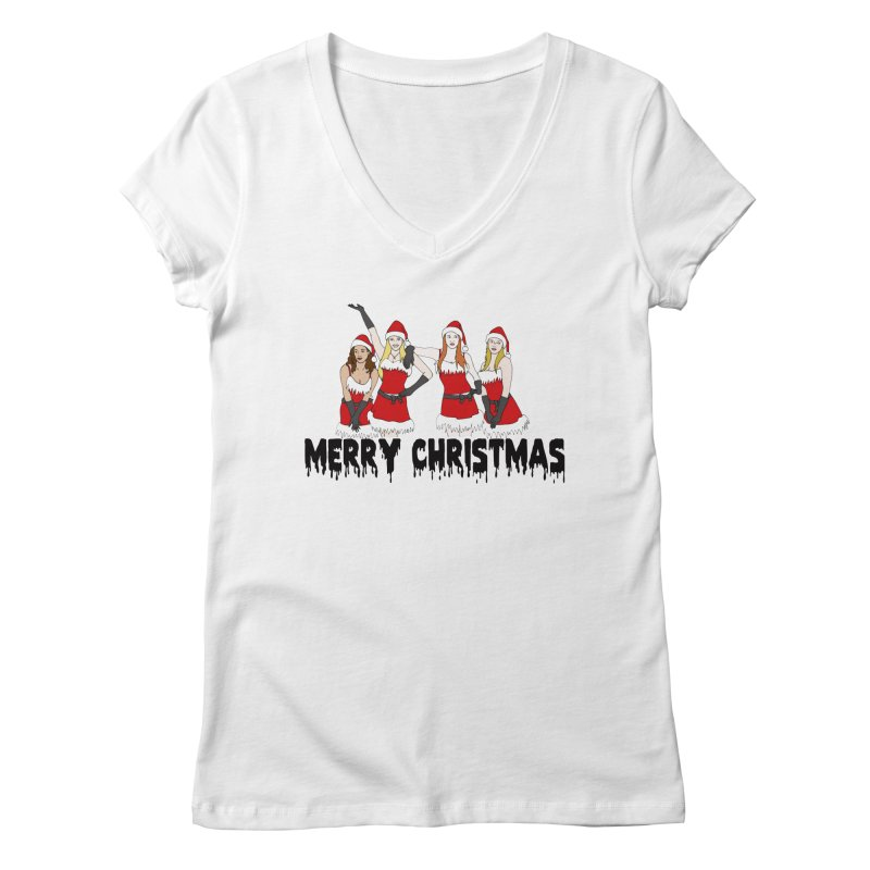 Mean Girls Christmas Women's V-Neck by coolsaysnev's Shop