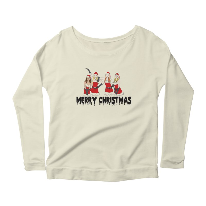 Mean Girls Christmas Women's Longsleeve Scoopneck  by coolsaysnev's Shop