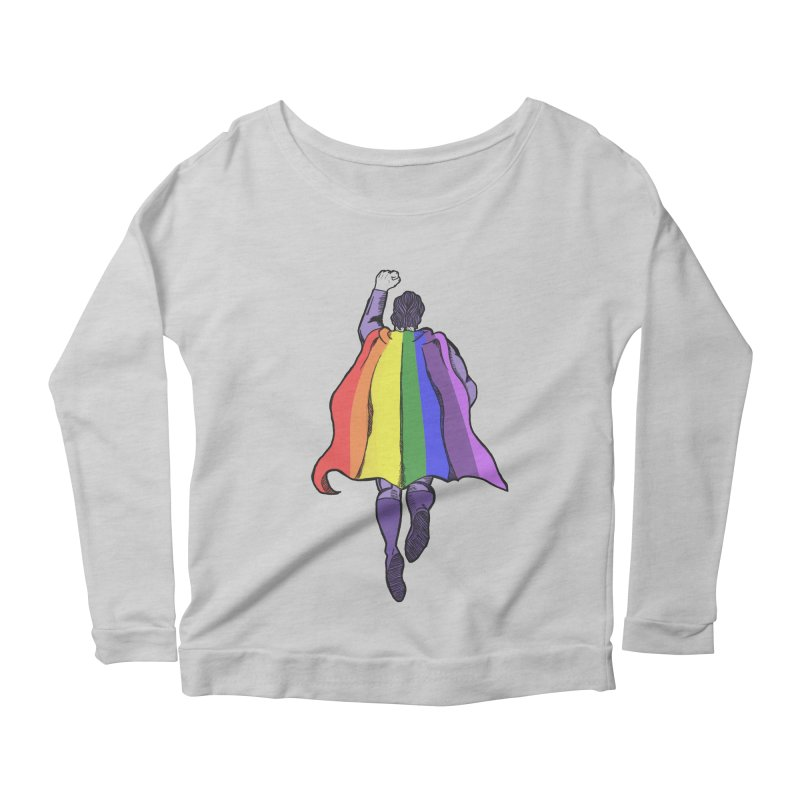 Love wins Women's Longsleeve Scoopneck  by coolsaysnev's Shop